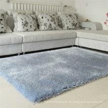 Modernes Haus Design PVC Boden Shaggy Silk Polyester Teppich