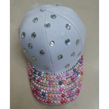 Latest women baseball hat white sun visor cap