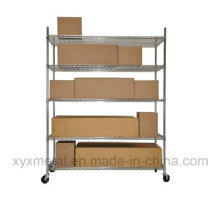 Chrom Metall Heavy Duty Wire Regal Trolley