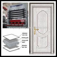 Multi layer melamine MDF door skin hot press machine/primer door skin moulded