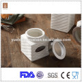 white ceramic kitchen tea coffee sugar canisters with lid