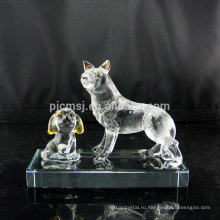 Прекрасный подарок Кристалл собака фигурка отполированный Кристалл щенок для детей детские сувениры