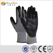 Schneidfeste Handschuhe Pu beschichtete Handschuhe schneidende Handhandschuhe