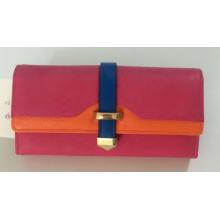 Guangzhou Fashionable PU Leather Long Women′s Purse Bag Coin Purse (W16)