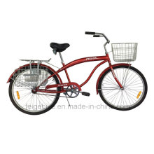 """with Front and Rear Basket 26"""" Beach Bicycle (FP-BCB-C051)"""