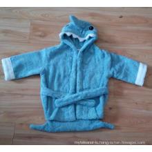 (BC-KB1004) Hot-Sell 100% Cotton Terry Kids Cute Bathrobe