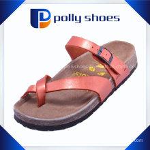 Red Flip Flop Men PU Sandal and Cork Slipper