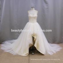 Alibaba mermaid China embroidered short wedding dresses 2016
