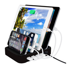 Smart Phone Tablet PC Charging Station 4 Ports USB Charger