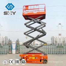 SJY Plataforma elevadora de tijera con plataforma elevadora hidráulica de cuatro ruedas