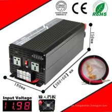 Inversor DC-AC de 2500W Inversor de onda sinusoidal pura de 12VDC o 24VDC de 48VDC a 110VAC o 220VAC