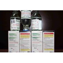 Paracetamol Infusion 1g / 100ml, perfusion de paracétamol 500mg / 50ml, perfusion de paracétamol dans une bouteille en verre, paracétamol dans un sac en plastique