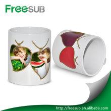 Customed white change color sublimation mug