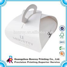 Embalaje de pastel de papel personalizado de alta calidad