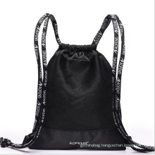 European market newest custom logo promotional waterproof nylon drawstring backpack bag