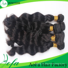 Aofa 7A Grade Unverarbeitete Reine Haar Remy Menschenhaareinschlagfaden