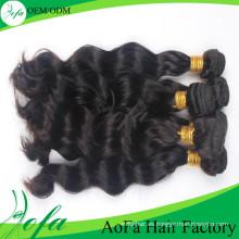 Trama del cabello humano de Remy sin procesar del pelo virginal de Aofa 7A