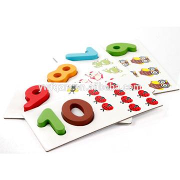 Venda quente de madeira bloco cubo puzzle 3d brinquedo educação