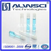 8 * 40mm 1ml klare Glasschale Durchstechflasche mit PE-Stopfen
