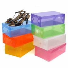 Caja de zapatos plástica cortada con tintas impresa barata (caja de visualización del PVC)