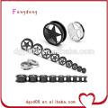 Stainless steel ear tunnel body piercing jewelry