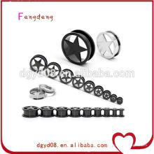 Stainless steel vibrating earring tunnel body piercing jewelry