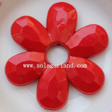 Smooth Surface Acrylic Lucite Opaque Flower Beads