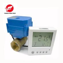 válvula termostática digital de latón