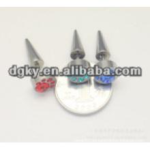 Moda de piedra de diamante de acero quirúrgico taper piercing