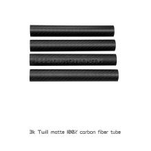 Hohe Präzision 3K Matte Twill oder Plain Carbon Fibre Rohre, 15x12x500mm Vollcarbon Exhaust Rohr Rohre oder Booms