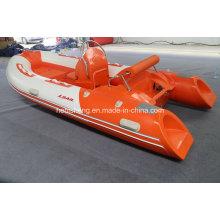 4m Hypalon costela barco (venda quente com vela motores de popa 15HP E-inicia)