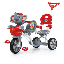China Cartoon Elephant Twin Baby Tricycle with Double Seats (SNTR870D)