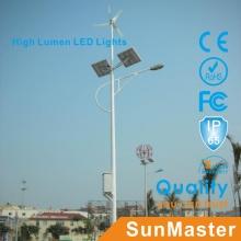 5 años de garantía Solar LED Street Light 3mm Thickness Pole