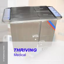 Chariot à provisions chauffant électrique en acier inoxydable (THR-FC011)