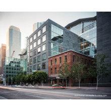 Bester Preis Wind Tight Aluminiumrahmen Einheitliche Glas Vorhang Wände