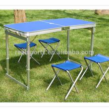 Portátil plegable mesa y silla Set Venta caliente plegable mesa muebles