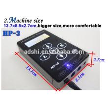 Hurrikan Power HP-3 Schwarz Dual Digital LCD Tattoo Netzteil Tattoo Power Unit