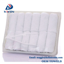 China Supplier wholesale 100% cotton airline disposable hot towel in tray China Supplier wholesale 100% cotton airline disposable hot towel in tray