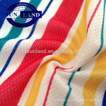 poliéster e nylon sensação de frio tecido de malha para a produção T-shirts