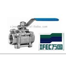 Шаровой кран санитарной нержавеющей стали 3PC (IFEC-BV100011)