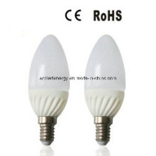 E14 4W aluminio y plástico SMD LED luz de la vela