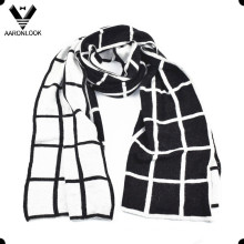 Der Qualitäts-eleganter Geschäfts-Art-Rasterfeld-Schal der Männer