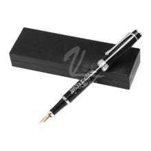Модная черная ручка с перьевой ручкой