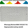 electrostatic antique hammer texture white gold powder coating