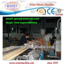 madera compuesta plástica del perfil de la máquina del certificado del ce