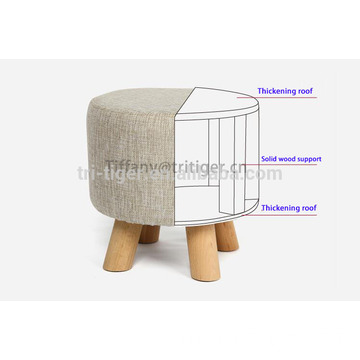 Beautiful home furniture customized cheap colorful wooden small shoe stool