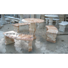 Antike Stein Marmor Tischbank für Garten Ornament (QTS015)