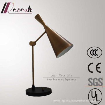 Traditional Decorative Bronze Horn Shape Bedside Dimming Table Lamp