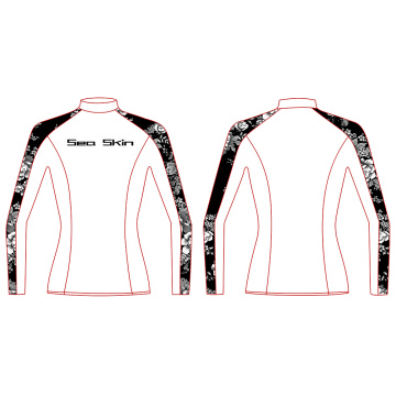 Seaskin manga larga Rash Guard para mujer