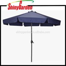 Parapluie se pliant en aluminium de plage de jardin extérieur à la mode de 3M avec le rabat